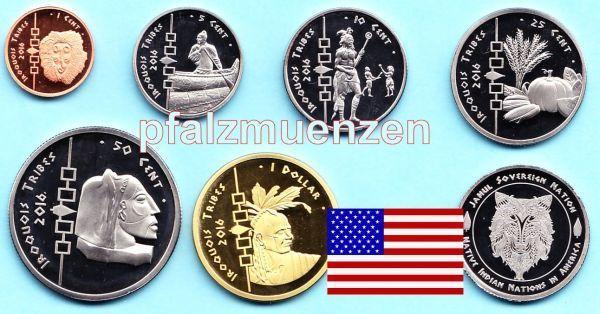 Usa 2016 Irokesen Indianer 6 Münzen