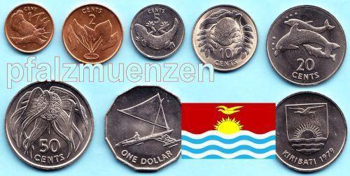 Kiribati 1979 Kompletter Jahrgangssatz Mit 7 Münzen 1 Cent 1 Dollar