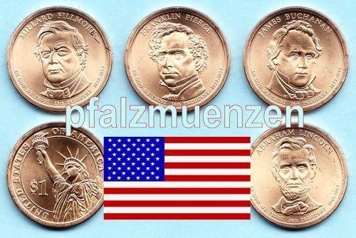 Usa 2010 Präsidenten Dollar Denver 4 Münzen