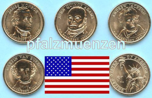 Usa 2008 Präsidenten Dollar Denver 4 Münzen
