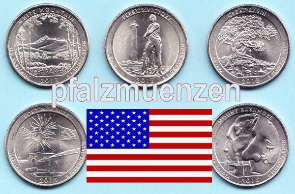 Usa 2013 National Park Quarter P 5 Münzen