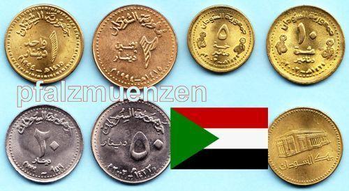 Sudan 1994 2003 1 50 Dinar Komplettsatz Mit 6 Münzen