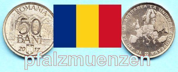 Rumänien 2017 50 Bani Sondermünze 10 Jahre Eu Mitgliedschaft