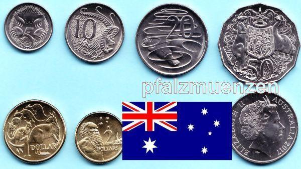 Australien 2017 Kompletter Jahrgangssatz Mit 6 Münzen