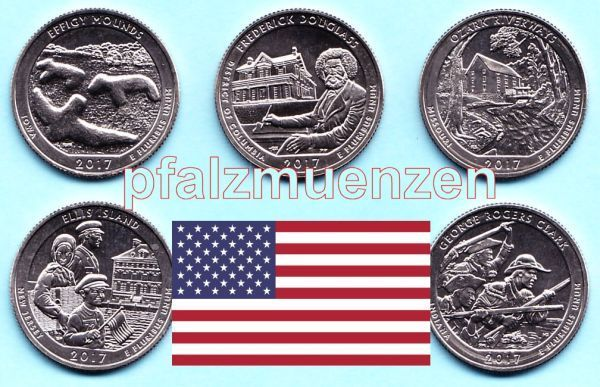 Usa 2017 National Park Quarter D 5 Münzen