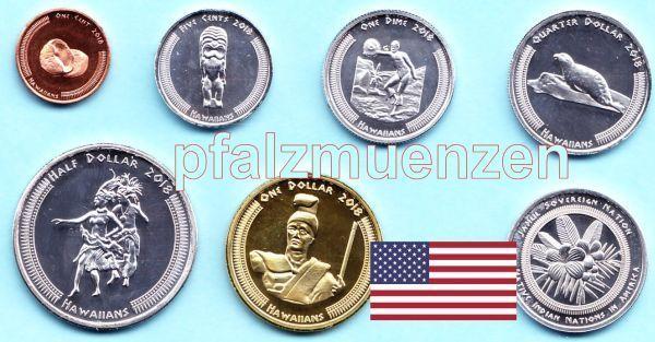 Usa 2018 Hawaii Indianer 6 Münzen