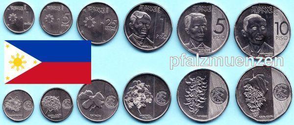Philippinen 2017 2018 Kompletter Neuer Kursmünzensatz Mit 6 Münzen