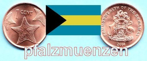 Bahamas 2014 1 Cent neuer Typ neues Metall