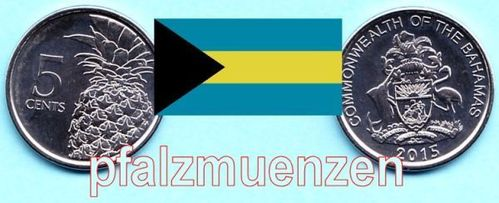 Bahamas 2015 5 Cents neues Design