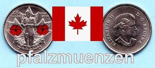 Kanada 2010 25 Cents Honour Remembrance Day (Poppy 2010)