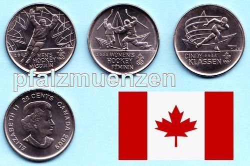 Kanada 2009 3 x 25 Cents Olympic Moments