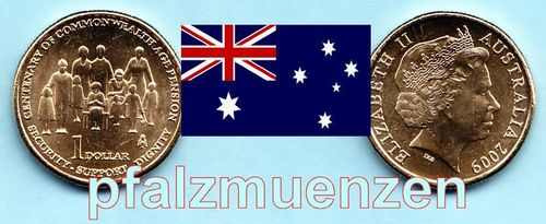 Australien 2009 1 Dollar 100 Jahre Alterspension
