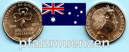 Australien 2010 1 Dollar 100 Jahre Girl Guides