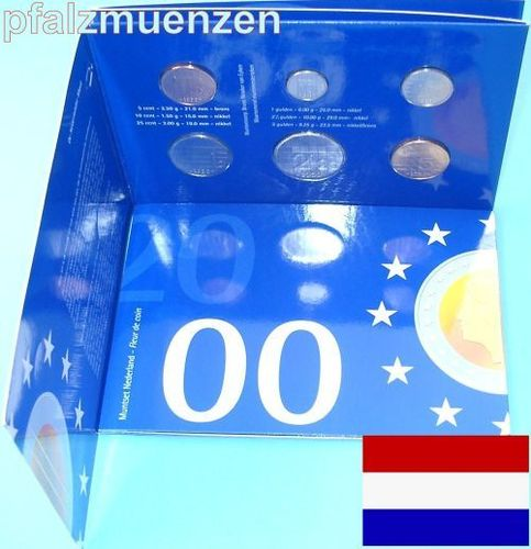 Niederlande 2000 5 Cent- 5 Gulden Original-KMS